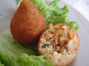 They may be tear drop shaped, but eating coxinhas will make you anything but sad.
