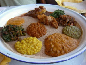 One thing we love about Ethiopian food? You order one thing but get to sample myriad flavors.