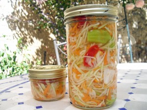 Haitian Pikliz: a mix of carrots, radishes, and scotch bonnet peppers